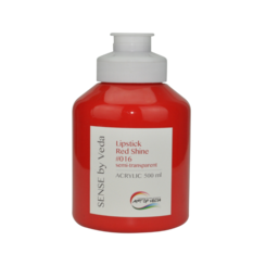 SENSE by Veda akrylfärg 500 ml - Lipstick Red Shine # 016