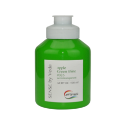 SENSE by Veda akrylfärg 500 ml - Apple Green Shine # 026