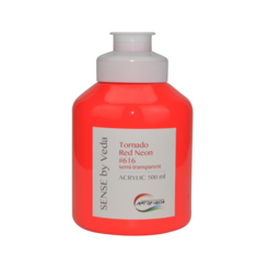 SENSE by Veda akrylfärg 500 ml - Tornado Red Neon # 616