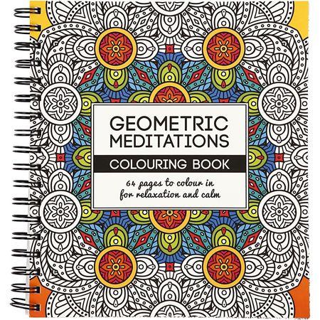 Målarbok Geometric Meditation